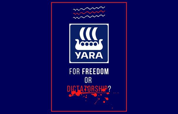 Обращение участника стачки Дмитрия Куделевича к Свейну Тор Холзетеру, руководителю компании Yara